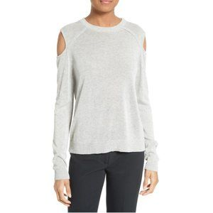 Milly | Crew Neck Cold Shoulder Pullover Sweater